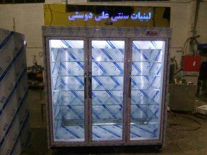 یخچال ایستاده لبنیاتی استیل ۲ متری